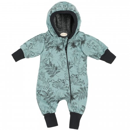 Happy Fleece Overall Dusty Mint