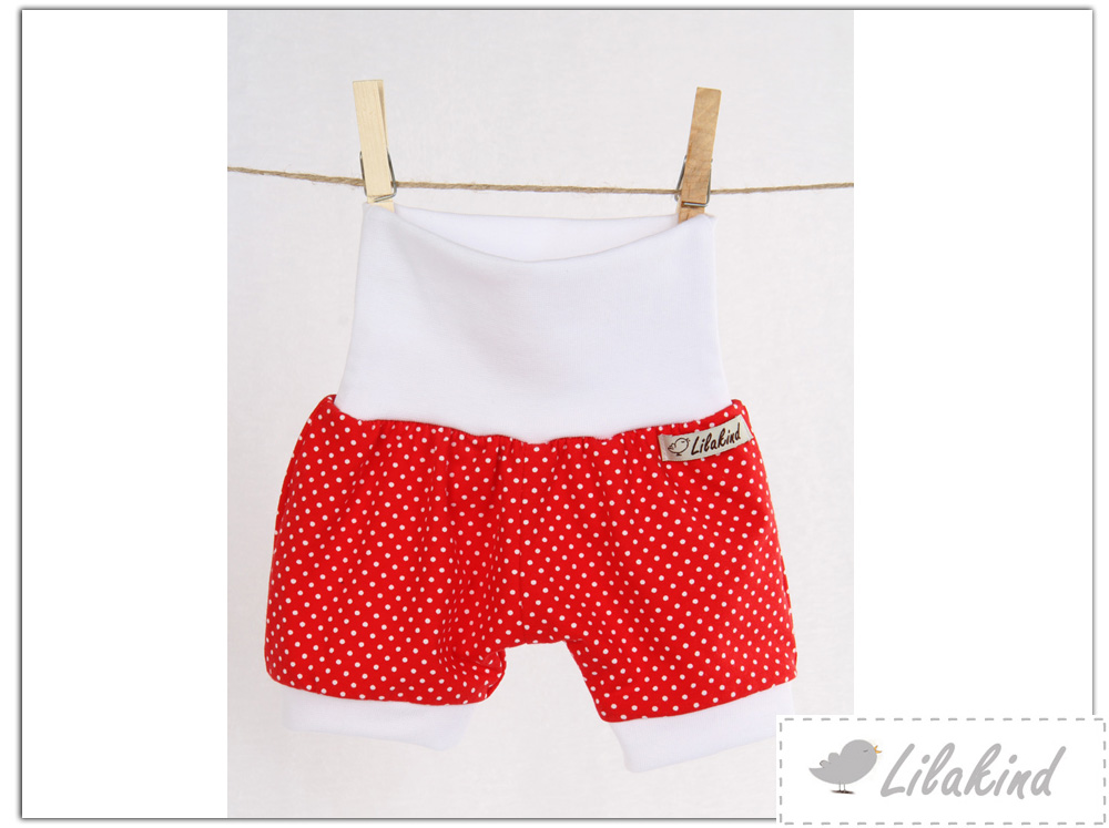 Hergestellt in Berlin Lilakind Kurze Pumphose Shorts Buxe Sommerhose Punkte